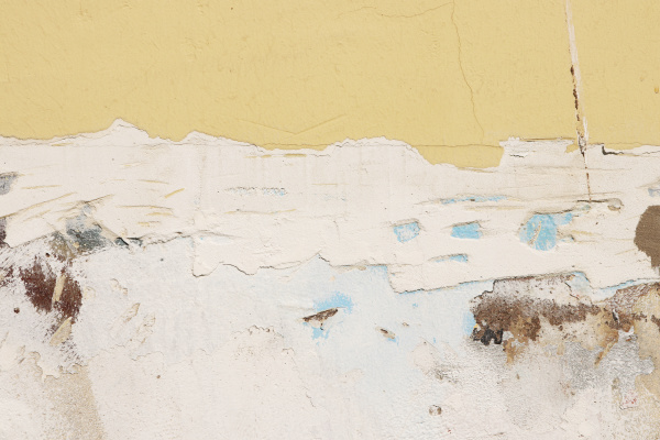 repaired yellow cement concrete wall texture