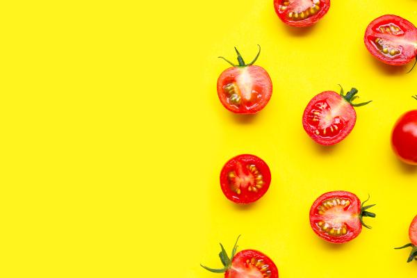 fresh cherry tomatoes whole and half