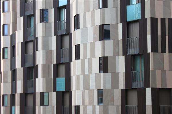 skycraper grey tiles and windows pattern