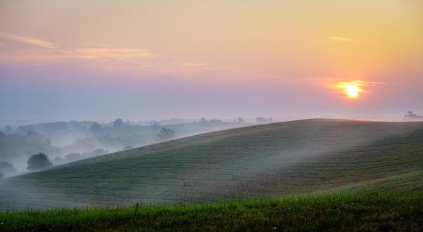 sunrise over central kentucky