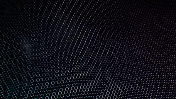 abstract futuristic wavy surface hexagon pattern