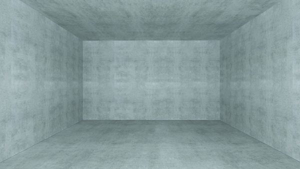 empty room with concrete wall space