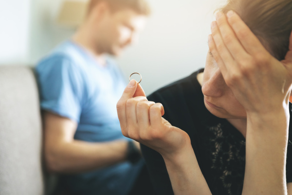 marriage problems and conflict concept