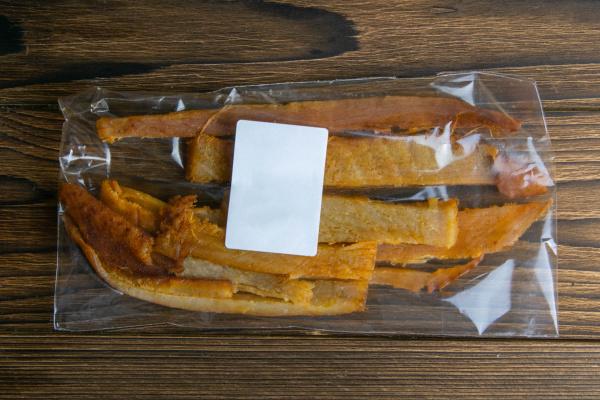 peruvian squid in a transparent package