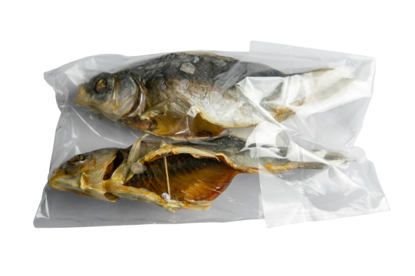 dried salted crucian fishes in a