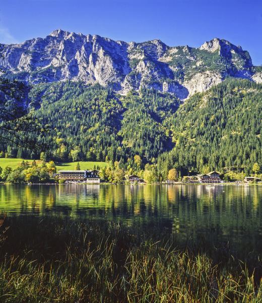 lake hintersee in bavaria germany