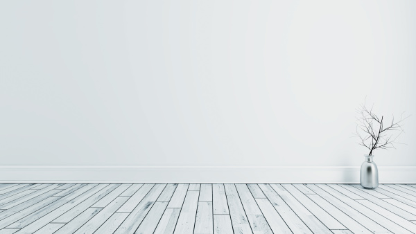 modern empty room with white wall
