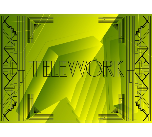 art deco telework text