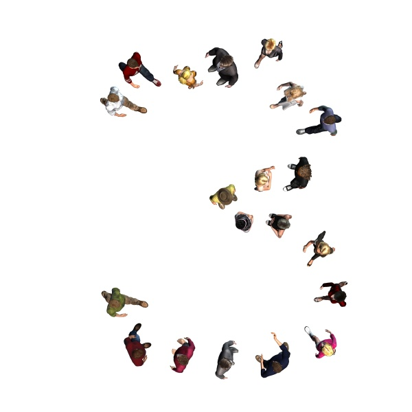 people arranged in number