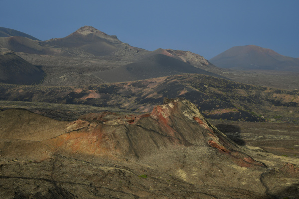 a beautiful volcanic landscape in lanzarote