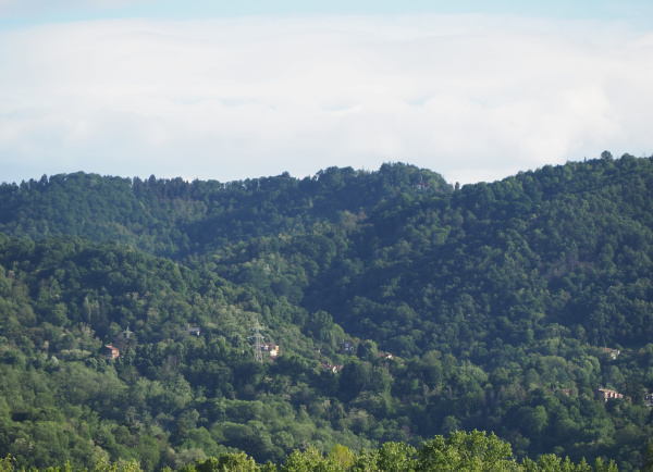 piedmont hills near turin