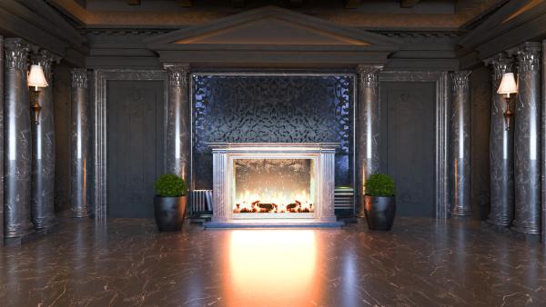 dark baroque and classic interior design