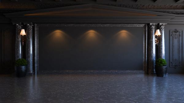black baroque and classic interior design