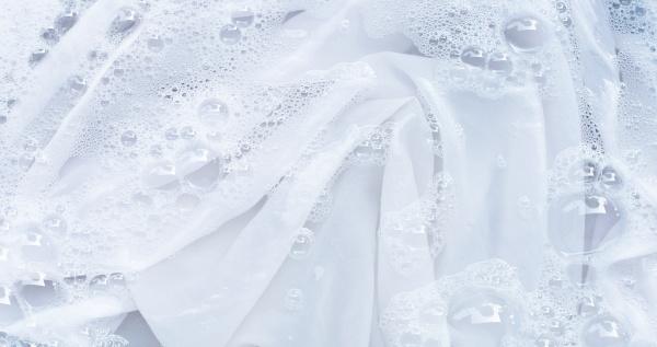 soak a cloth before washing white