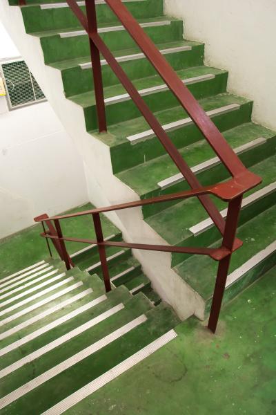 open green stairwell