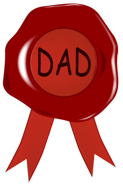 fathers day wax stamp