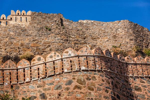view of kumbhalgrh fort walls