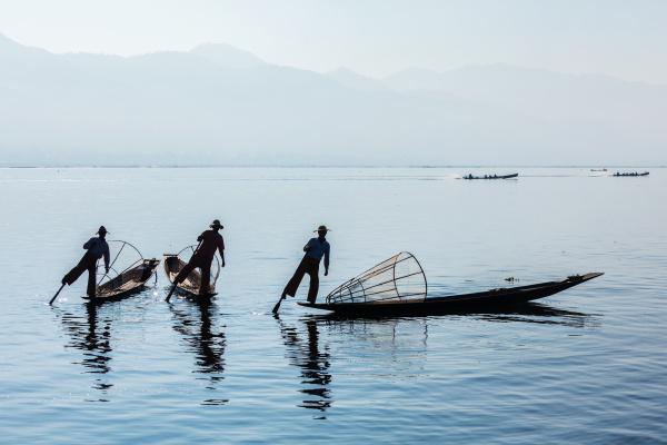 burmese fisherman at inle lake