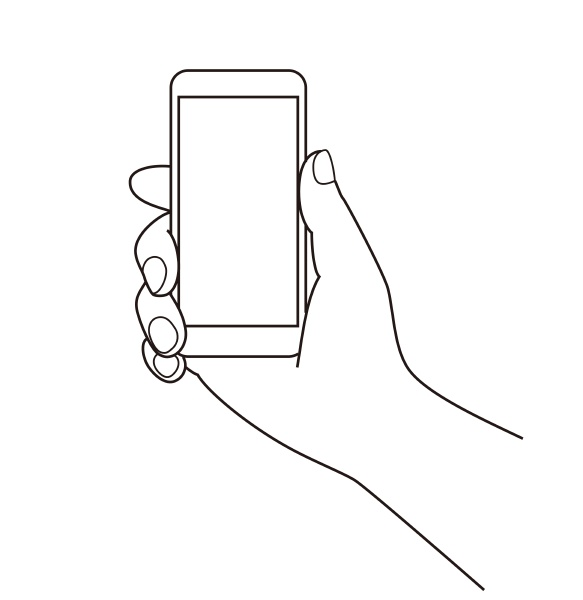 holding a cell phone mobile phone