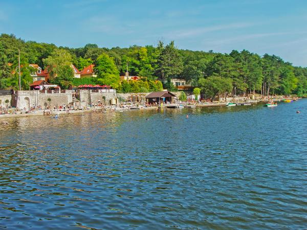 lake with recreaction area