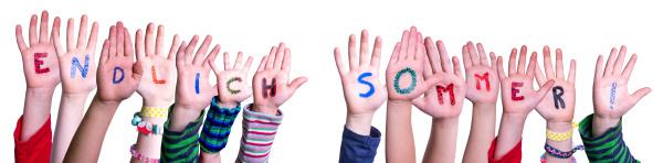children hands endlich sommer means