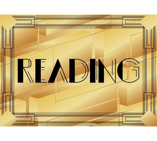 art deco reading text
