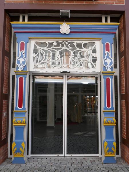 colorful door surround