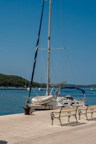 sailing ship in the mali losinj
