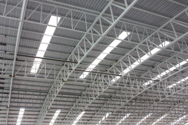 carpark metal roof structure