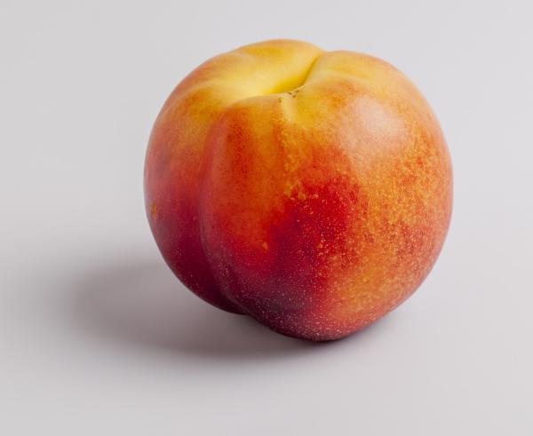nectarine on white background