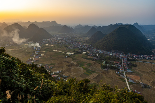 the bac son valley in vietnam