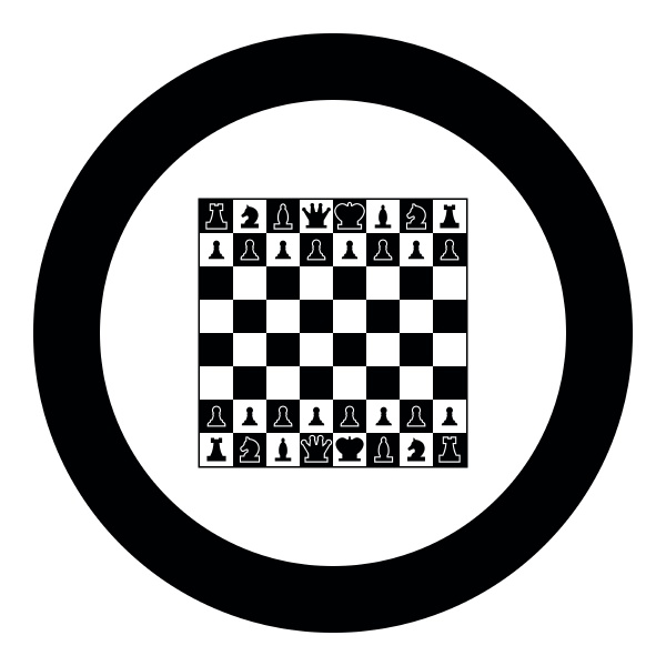 chessboard and chess pieces line figures