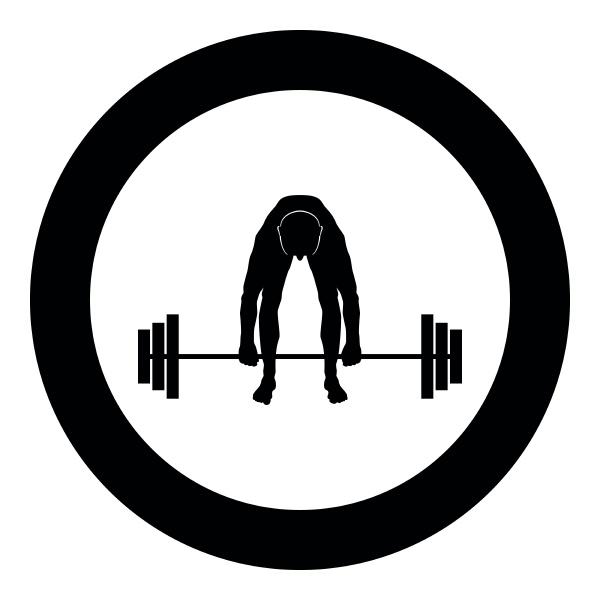 muscular man weightlifter doing raising the