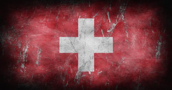 flag of switzerland with grunge texture