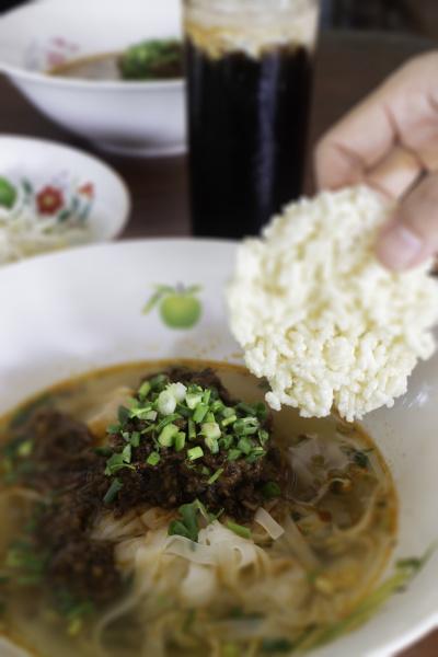 local thai style noodles pork soup