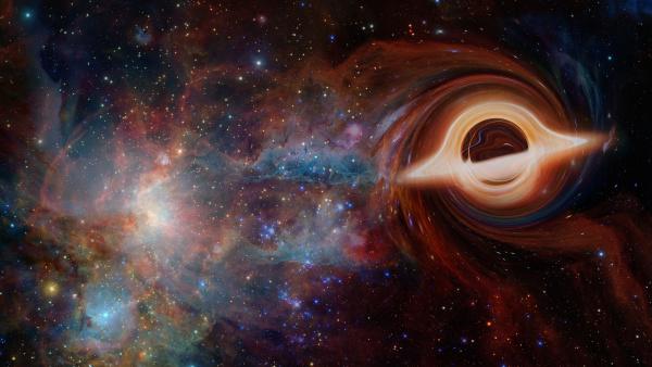 artistic representation of black hole