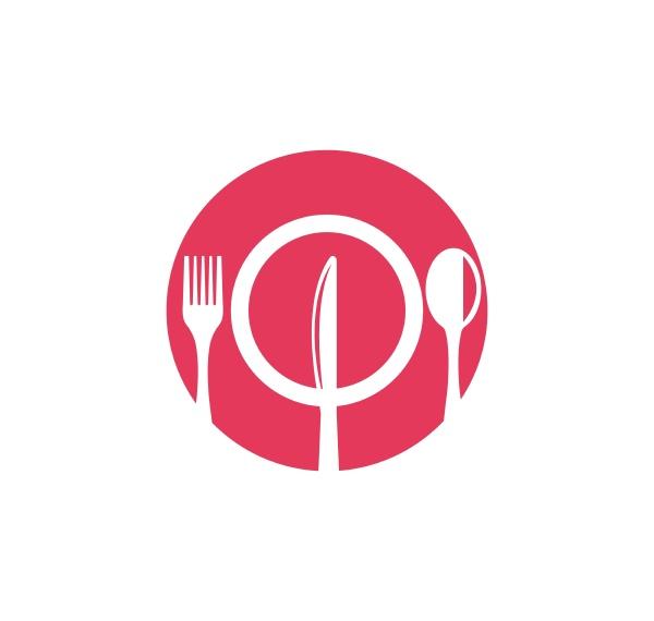 fork knife logo vector illustration