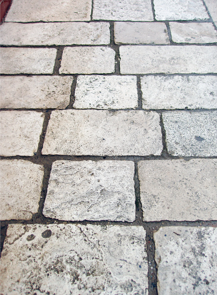stone tiles pedestrian path in the