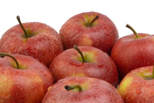 apple fruit on white background