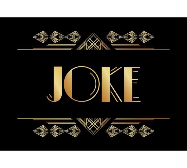 art deco joke text