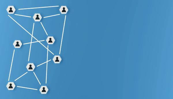 abstract teamwork network and community concept