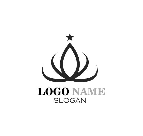 crown logo icon vector illustration