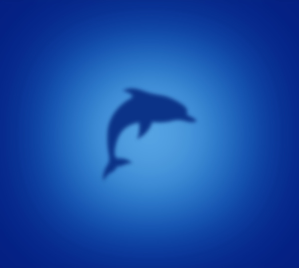 dolphin silhouette on blue