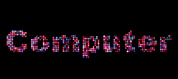 computer led text