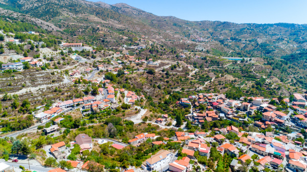 aerial kyperounda village limassol