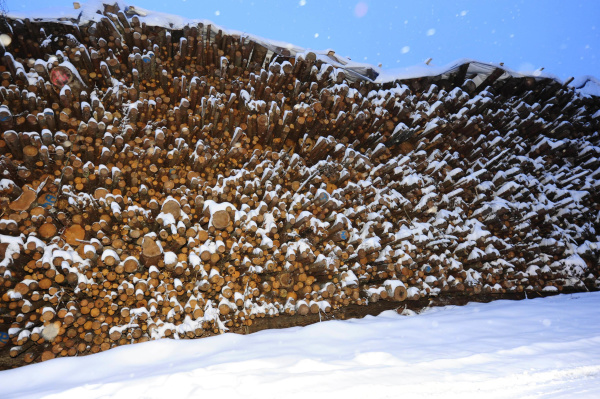 firewood staple for heating in winter
