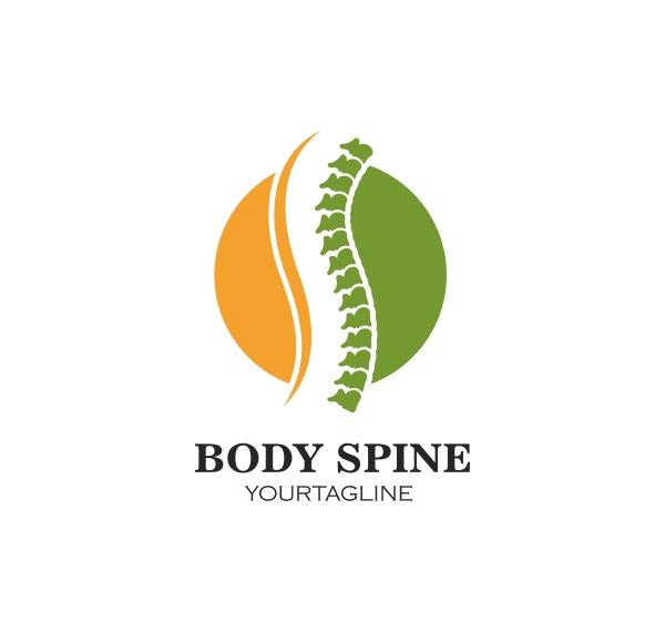 spine diagnostics symbol logo template vector