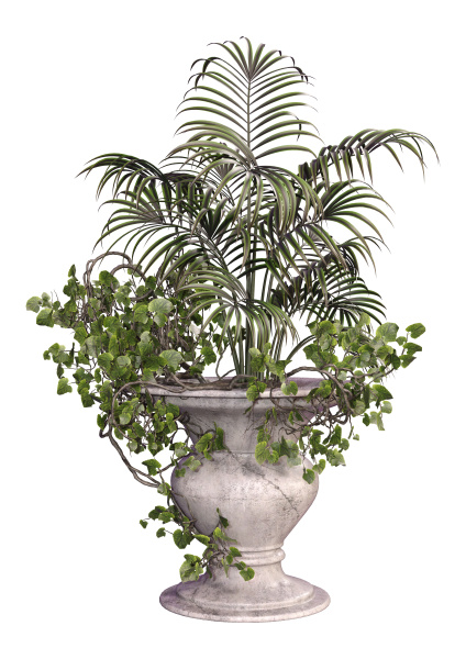 3d rendering outdoor planter on white