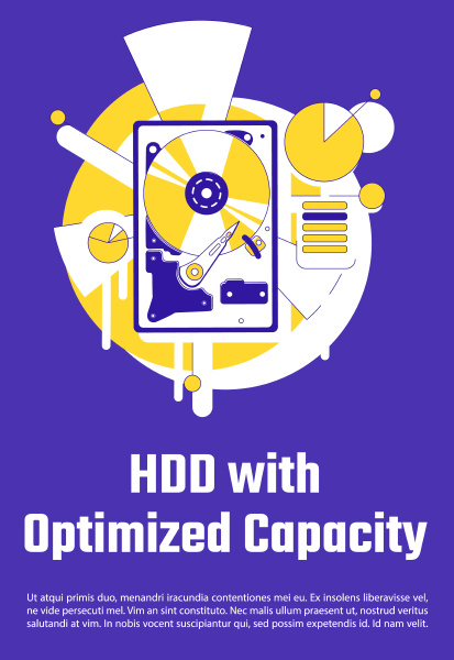 hdd with optimized capacity poster flat