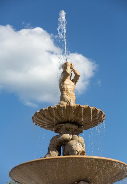 baroque residence fountain on residentplatz in